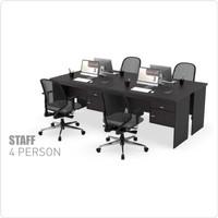 Meja Tulis Kerja Staff Kantor Workstation 4 Orang ukuran 120