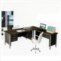 Meja Kerja Kantor Direktur Manager bentuk model L kaki Besi Meja Saja