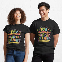 Kaos 100 Days Of Magical Learning Happy 100 Days Of Sch 19665 T Shirt