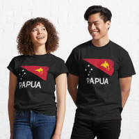 Kaos Papuan Flag Design Vintage Made In Papua New Guine 52105 T Shirt
