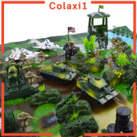 PAC Military Base Scene Playset Toy 5cm Soldier Army Men Figure