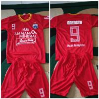 Setelan Jersey baju kaos bola anak anak kids Persija Jakarta bonus sab