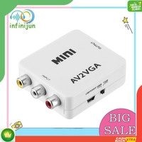 Box Adapter Converter Mini HD av2vga AV RCA CVBS to VGA Video HDTV
