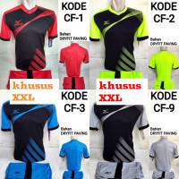 Stelan Baju Kaos Volly Badminton Running Futsal Dryfit Big Size XXL Pr