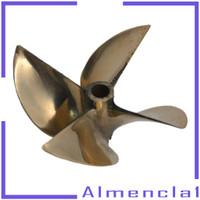 Almencla1 Baling-Baling 4 Bilah 26cc Bahan Tembaga Untuk Perahu Rc