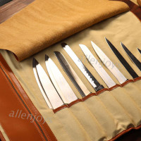 JOY ef Knife Roll Bag Durable Knife Carrier Stores 10 Knives