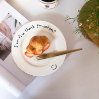 Piring Makanan Penutup Dengan Bahan Keramik Dan Bergaya Korea Untuk