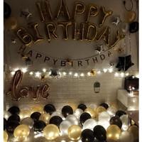 Dewasa dekorasi pesta ulang tahun balon romantis, Lentera kamar