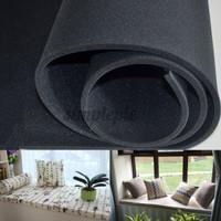 Bantalan Kursi Sofa Bahan Karet Foam Padat Warna Hitam Ukuran 79x24