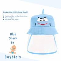 Baybie's Topi Bucket Face Shield Baby Motif Blue Shark