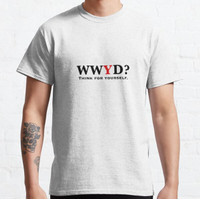 Kaos Baju What Would You Do, Think for Yourself, Atheis 71322 T-shirt