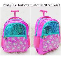 IW529 Tas Koper Ransel SD Sequin hologram Seperti Smiggle Backpack Bag