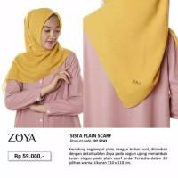 Zoya Sista Plain - Kerudung Segiempat Polos Voal - Hijab Murah