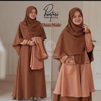 BAYAR DI TEMPAT Elbina Set Gamis Outer Hijab Size S M L XL Matt Moscra