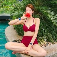2pcs Wanita Berpisah Mengumpulkan Bikini Baju Renang Seksi Pinggang