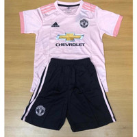 Jersey Kaos Baju Bola Anak Kids MU Man Manchester United Away Limited