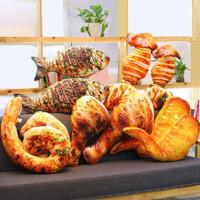 Bantal Simulasi Bentuk Makanan Ikan Bakar Ukuran 20cm