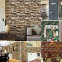 Fashion Realistic Brick Rock Wall Paper TV Background Wallpaper Roll