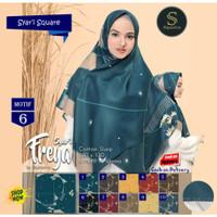 Jilbab Segi Empat Syari Freya Jumbo Size Motif 6 by Signarica Scarf -