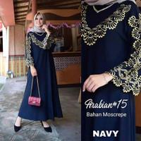 pakaian wanita bordir ASLI MILLATY Abaya Gamis Maxi Dress Arab Saudi B