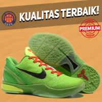 Sepatu Basket Sneakers Nike Kobe 6 Protro Grinch Christmas Green Red