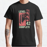 Kaos Level 42 Complete Gamer Gift 42 Years Old Gam T-shirt 71711
