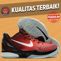 Sepatu Basket Sneakers Nike Kobe 6 Protro Allstar Red Black All Star