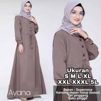 Ayana Dress - UKURAN S M L XL XXL XXXL 5L - BAJU GAMIS JUMBO - DRESS B
