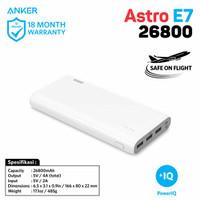 New Anker PowerBank Astro E7 White 26800 mAh External Battery