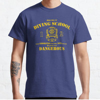 Kaos Funny Commercial Diver - Old No.12 Diving Sch T-shirt 128685