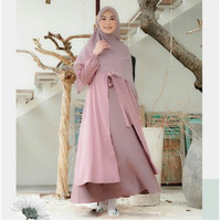 Bisa MUFIDA DRESS Size S M L XL Bahan Moscrepe HQ