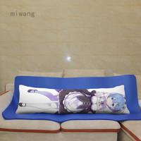Anime Re:Zero Dakimakura Rem Ram Girl Hugging Body Pillow Case Cover