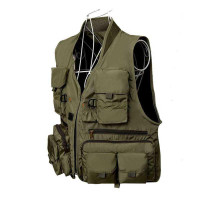 Rompi Pancing Fishing Vest Quick Dry Jacket XL - Army Green