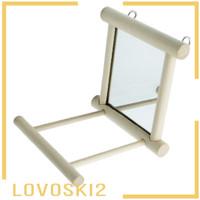 Mainan Ayunan Gantung Dengan Cermin Untuk Kandang Burung Beo 2