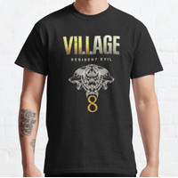 Kaos Resident Evil Village 8 With Twins Wolf T-shirt 189008