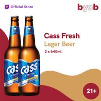 Cass Fresh Lager Beer - 640ml (2 bottles)