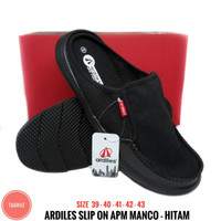 Sandal Sendal Pria H125 Sepatu Ardiles ApMan Kaulun 01 HITAM Sepatu