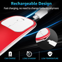 M8-Aluminum Alloy Wireless Mouse Silent Click Mouse Thin Optical