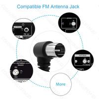 FM Antenna Female/Male Type Plug Connector Stereo Audio Radio