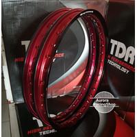 Velg TDR Wx Shape Two Tone Set Ring 17 x 140 140 warna Black Red