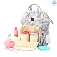 Tas Ransel Kapasitas Besar Anti Air Dengan Strap Stroller Untuk Ibu