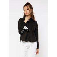 Colorbox Shirt With Lace I:Blwfct120G001 Black