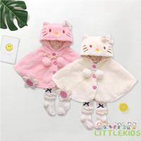 Jaket Pono Hoodie Tebal untuk Bayi Newborn Perempuan 0-24 Bulan