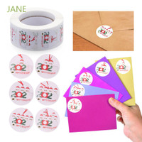 Christmas 500pcs Merry Motif Set Souvenir Jane Stiker Label Pernikahan