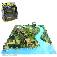 LACOOPPIA1 Military Base Scene Playset Toy 5cm Soldier Army Men Fig 6b