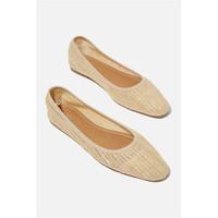 RUBI - Flat Shoes Wanita - Essential Carina Square Toe Ballet 5 - Cokelat, 35