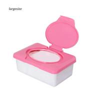 Lgsz _ S Kotak Tissue Basah dengan Tutupan, Bahan Plastik