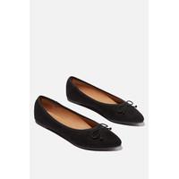 RUBI - Flat Shoes Wanita - Essential Evelyn Point Ballet 3 - Hitam, 36