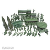 DYNWAVE 56pcs Set Military Model Playset Toy Soldier Army Men 5cm A 0j