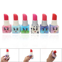 Mainan Squishy Model SlowRising Bahan PU Elastis Bentuk Lipstick un 3r